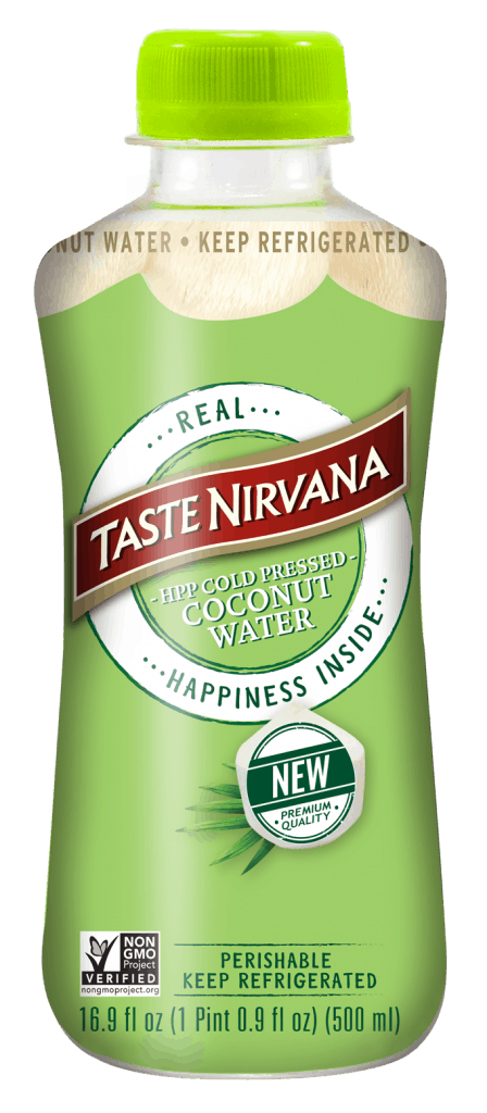 Image of front face cold pressed Real Coconut Water