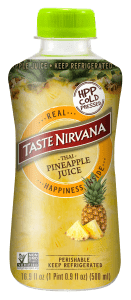 Front Face of HPP Pineapple Juice