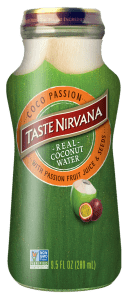 Front Face of Coconut Water with Passion Fruits