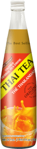 Front label of Taste Nirvana Thai Tea 25 fl oz Bottle