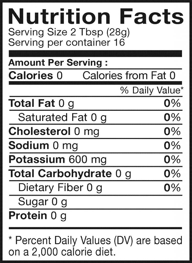 Nutrition Facts of Taste Nirvana Thai Tea Easy Brew