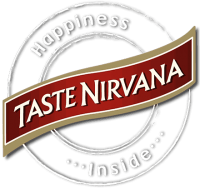Taste Nirvana Logo with white circle - Happiness Inside