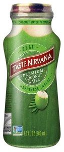 Front Label Image of Real Coconut Water 9.5 fl oz glass bottle
