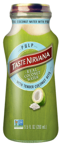 Front Label Image of Real Coconut Water with Plup glass bottle